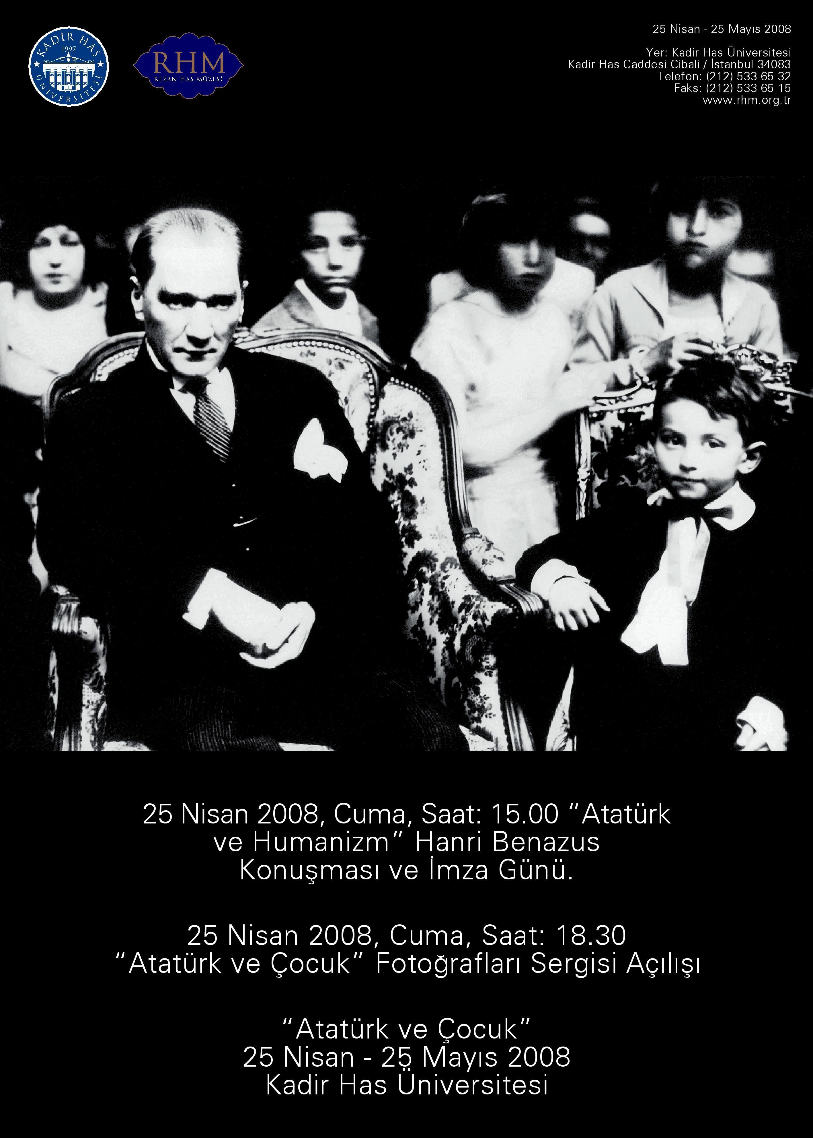 Ataturk ve cocuk poster