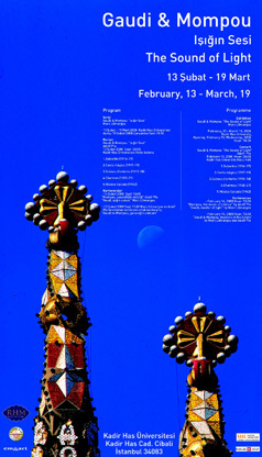 Gaudi ve Mompou poster